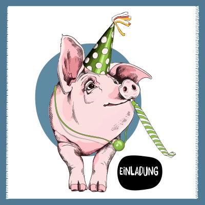 Einladung Schwein