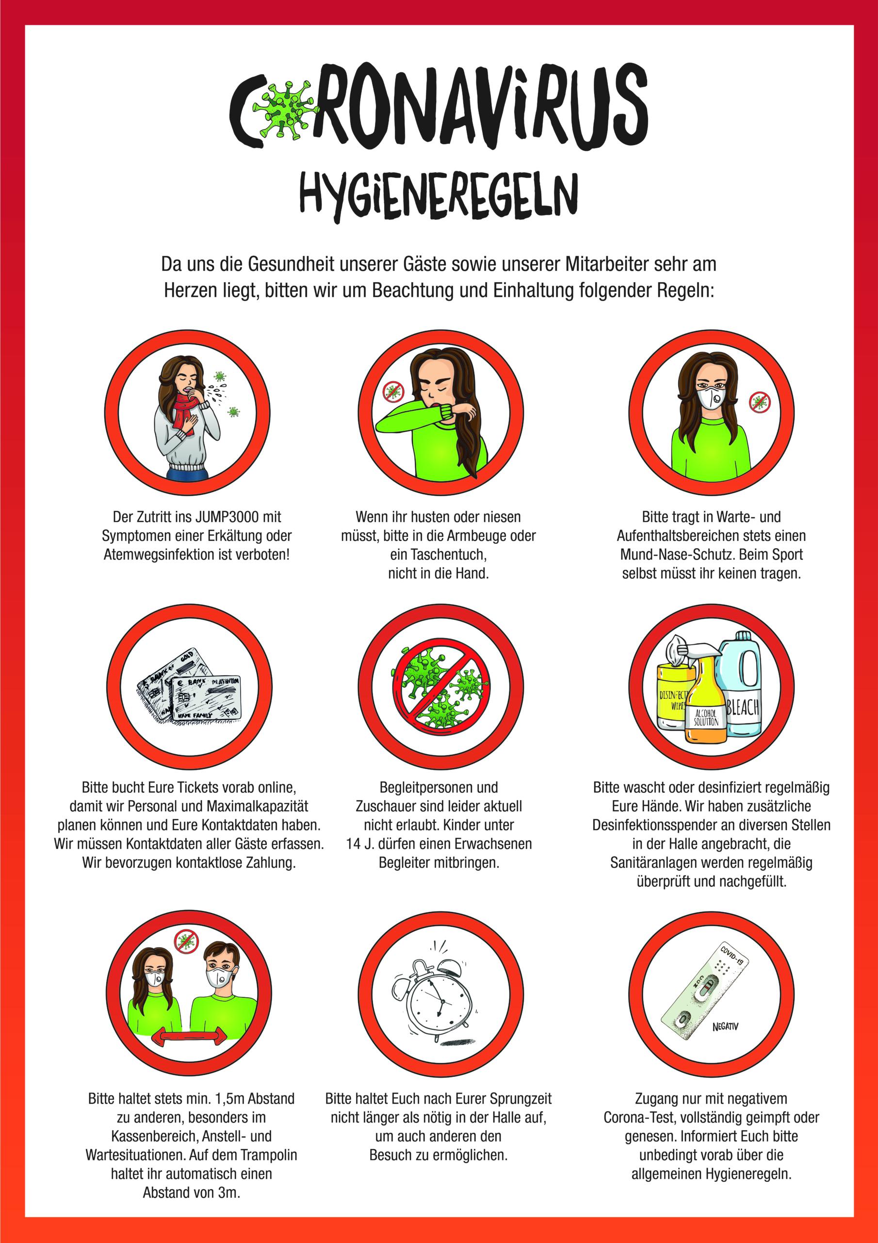 Corona Hygieneauflagen